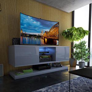 MEUBLE TV Meuble TV / Meuble de salon WIZZ - 140 cm - gris m