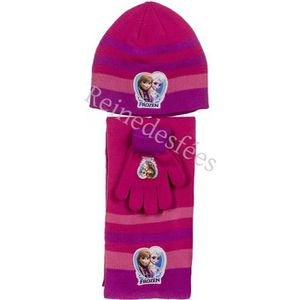 BONNET - CAGOULE Bonnet écharpe gants enfants Frozen filles 3 - 4 -