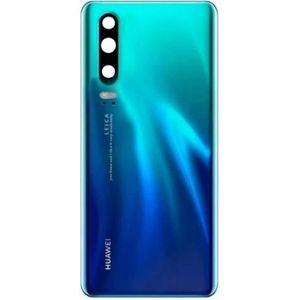 PIÈCE TÉLÉPHONE Cache batterie vitre arrière Huawei P30 bleu auror
