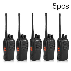 TALKIE-WALKIE 5 Pcs Baofeng 888 S Talkie Walkie 5 W 16ch Uhf Rad
