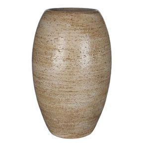 VASE - SOLIFLORE MICA Vase rond Vera - Rustique creme - 35 xØ22 cm