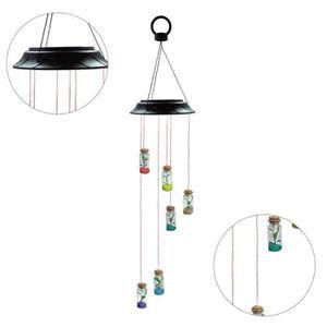 Vent solaire carillon petite pendaison ornements cloches en m/étal d/écoration de porche de chambre