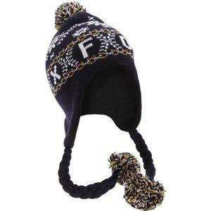 BONNET - CAGOULE Bonnet style péruvien à motif Oxford et pompons -
