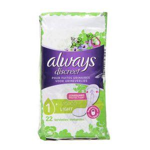 FUITES URINAIRES ALWAYS DISCREET Serviettes Small pour Fuites Urina