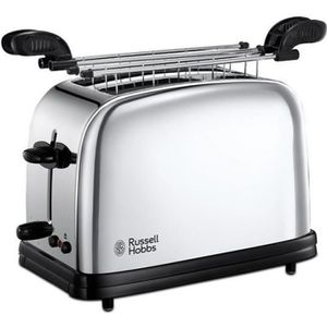 GRILLE-PAIN - TOASTER Russell hobbs - grille-pains 2 fentes 1200w inox -