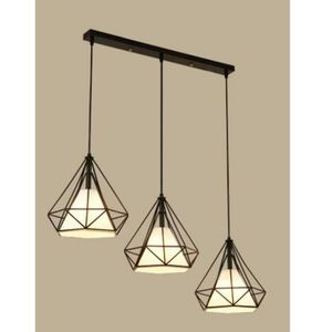 LUSTRE ET SUSPENSION STOEX Lustre - Suspension Cage forme Diamant de 3
