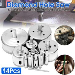 SCIE TREPAN - CLOCHE 14Pcs Diamant Scie-cloche Drill Bits Set Drill Bit