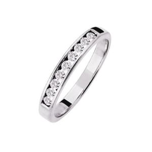 ALLIANCE - SOLITAIRE Alliance Pour Femme En Or Gris Et 9 Diamants - 61