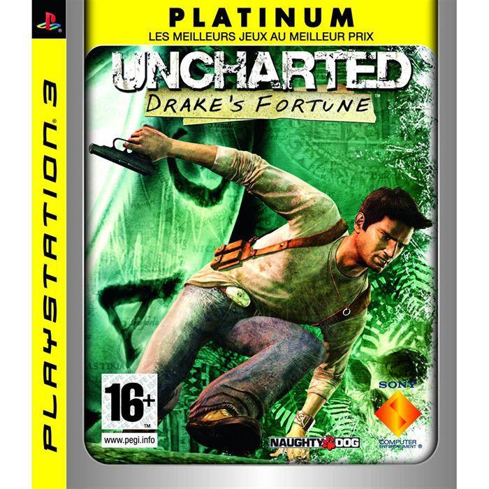 JEU PS3 UNCHARTED DRAKE'S FORTUNE Platinum / JEU CONSOLE P