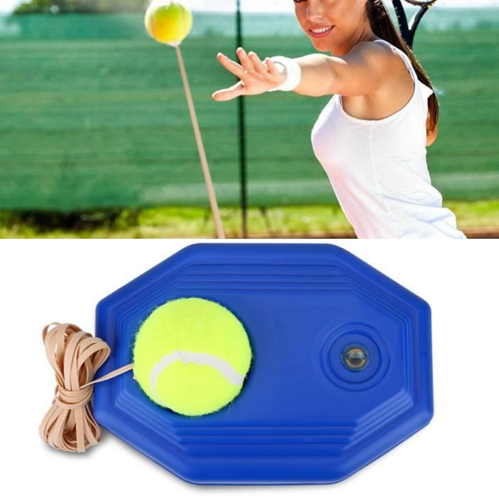 Tennis Trainer Tennis Tool avec corde élastique en caoutchouc -LON