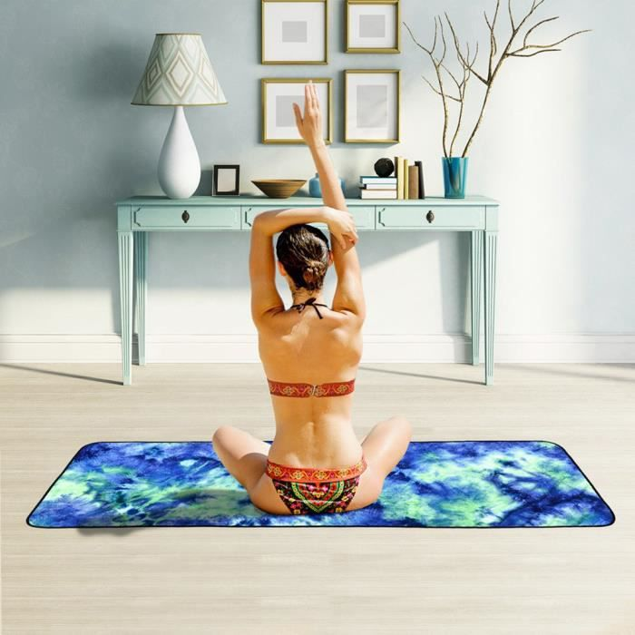 Serviette de Yoga Microfibre Vert Antidérapante Tapis Sport Pliante @sk13000