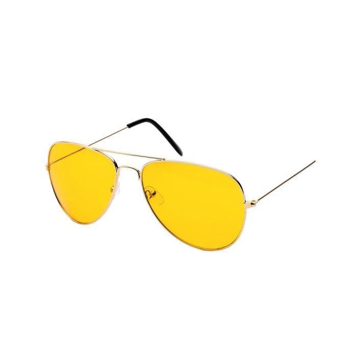 Night Vision Aviator Lunettes de soleil pour homme et femme UV400 lunettes pour les conducteurs Or_550