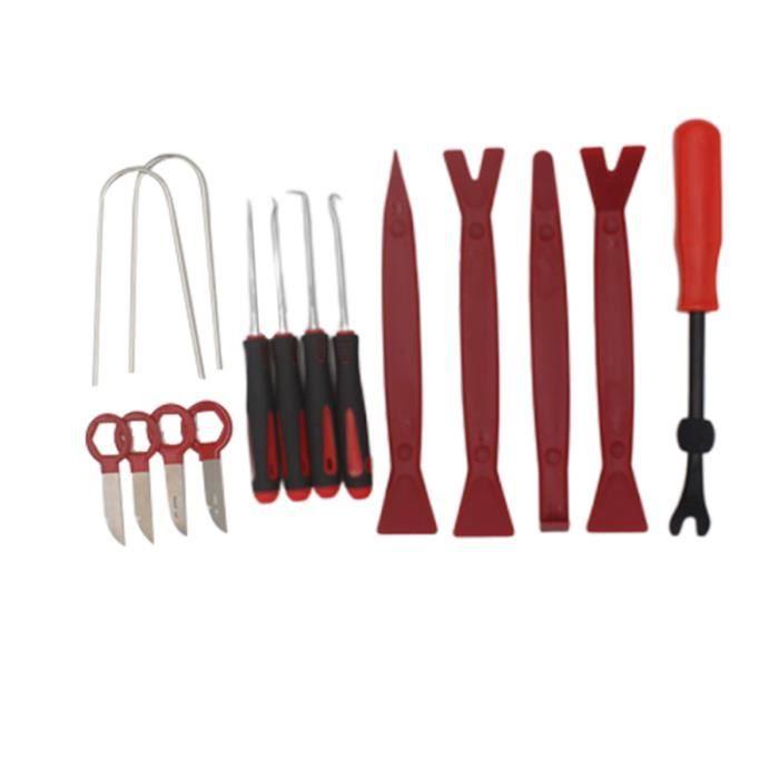 15 pièces outil de retrait de clip tournevis de de panneau Kit de maintenance d'installation de tableau KIT VERIN DE CARROSSERIE