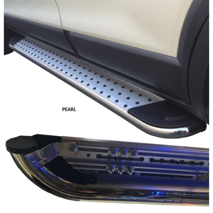 Marche-pieds latéraux pour Nissan Pathfinder 2005>2014 (le jeu D+G), série Pearl 173cm
