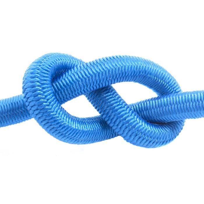 50m corde élastique câble 8mm bleu - plusieurs tailles et couleurs