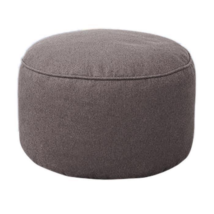 Pouf Canapé Tabouret Rond Couvrir Sacs De Fèves Paresseux de Sofa Coton Couverture Gris Chaud ma30118