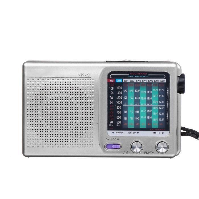 Radio Portable FM MW SW ARGENT FR90687