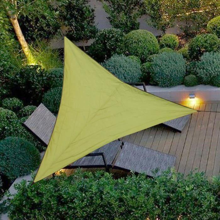 Voile d'ombrage – Toile solaire triangulaire Bloc UV d'abri d'auvent – PES Imperméable protection UV - 4x4x4M Da34622