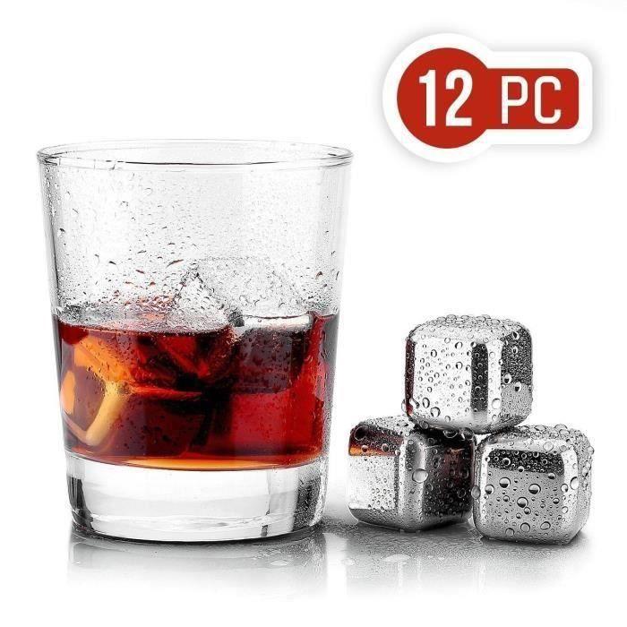 12X Bacs Go Glacons Whisky Pierre Go Whisky congélateur Gocier Inox Réutilisables Go51024