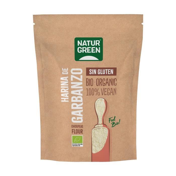 Naturgreen+Farine de pois chiche bio sans gluten 500 g de poudre