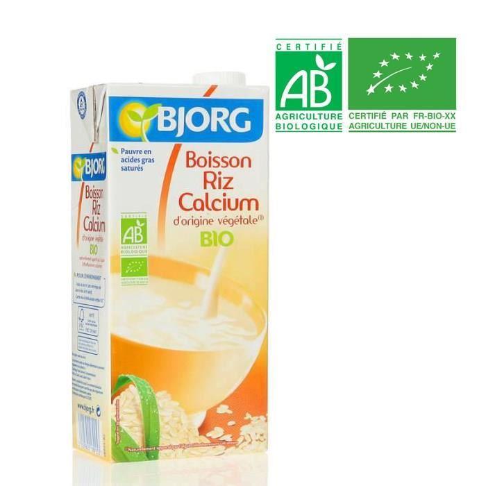 Boisson bio riz et calcium 1l Bjorg