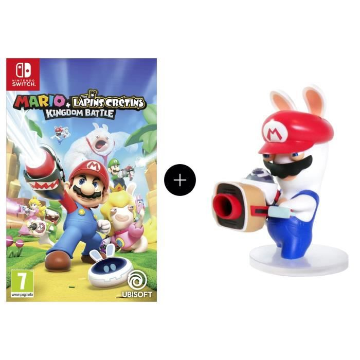 Pack Mario + The Lapins Crétins Kingdom Battle Jeu Switch + Figurine Mario 8cm