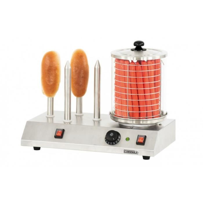 Appareil à Hot Dog Professionnel 4 Plots - Casselin - - CMH1B