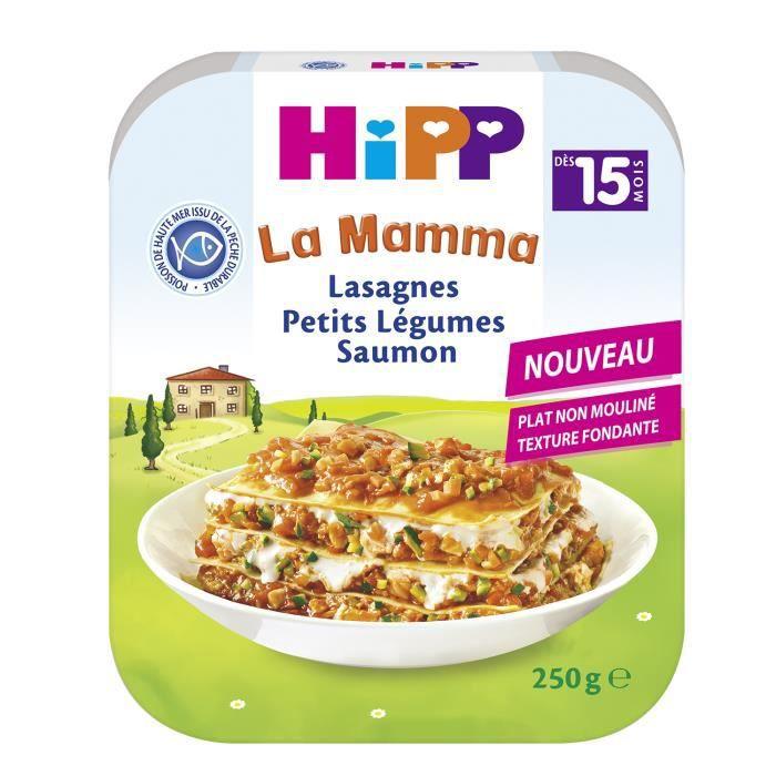 HIPP Lasagnes Petits Légumes Saumon - 250 g - Dès 15 mois