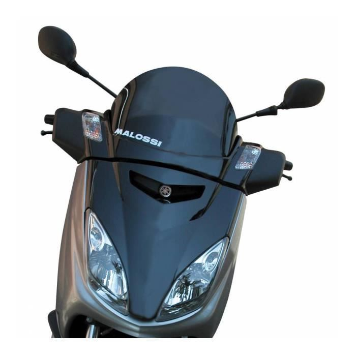 Bulle-saute ventmaxiscooter pour yamaha 125 xmax 2006+2008, 250 xmax 2006+2008 - mbk 125 skycruiser 2006+2008 Fume fonce