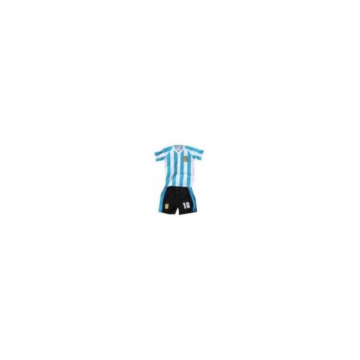 Ensemble football enfant Argentine : short + maillot