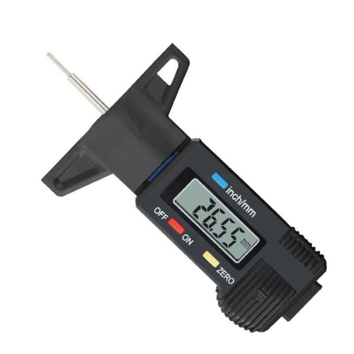 0-25.4mm numérique LCD pneu bande de roulement jauge de profondeur mesure de étrier vérificateur mètre BOMBE ANTI-CREVAISON