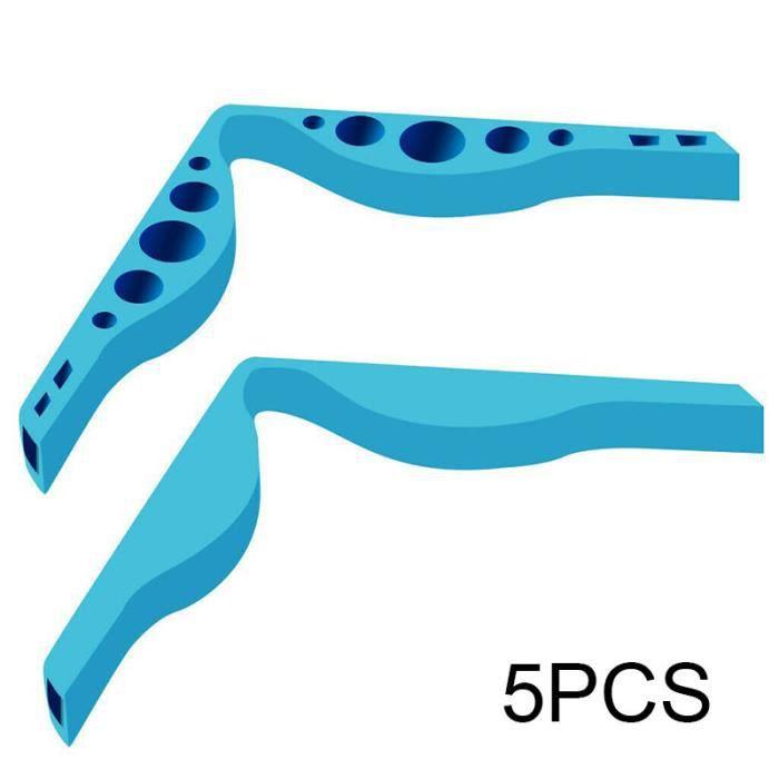 5 pièces d'accessoires anti-buée pour lunettes pour écrans faciaux pour éviter la formation de buée sur les lunettes - Bleu