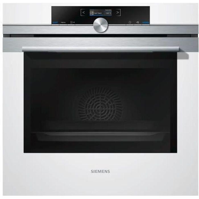 Siemens iQ700 HB674GBW1 Four intégrable niche largeur : 56 cm profondeur : 55 cm hauteur : 58.5 cm avec système auto-nettoyant…