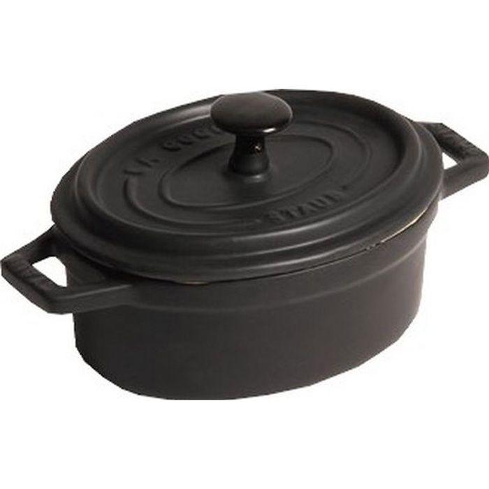 STAUB Cocotte ovale 17cm noir