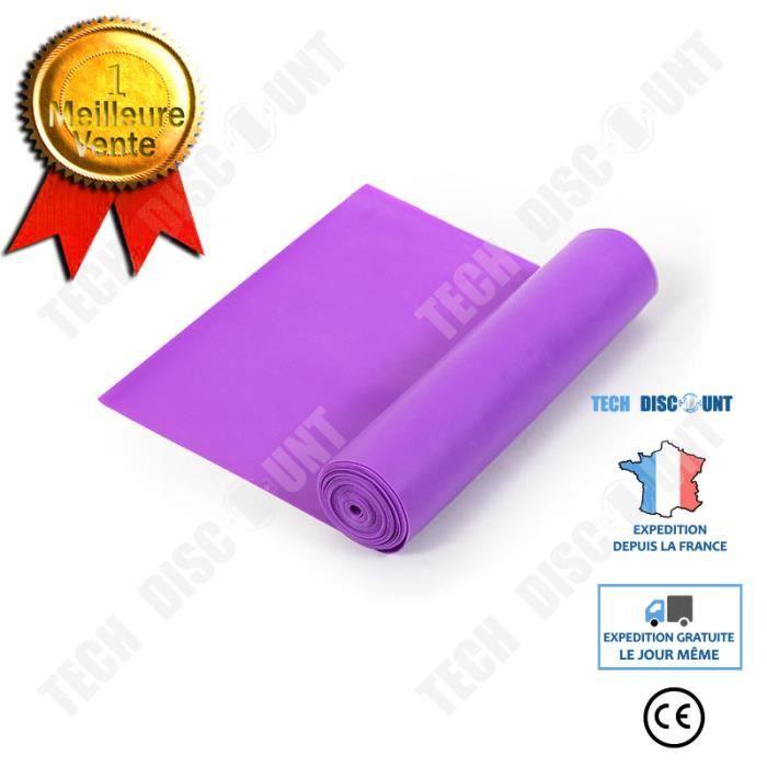 TD® Violet 1800 * 150 * 0.45mm- Bande de tension de yoga Aptitude Fitness pour dames Bande de tension