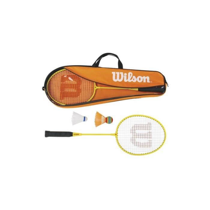 Kit raquette + volants junior Wilson - jaune - 3