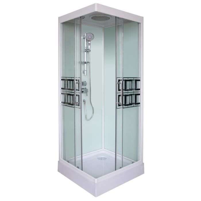cabine de douche kelia 80x80cm achat vente cabine de douche cabine de douche 80x80cm cdiscount. Black Bedroom Furniture Sets. Home Design Ideas