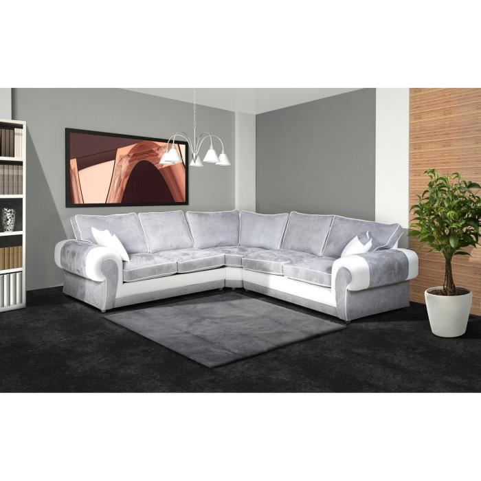 canap tango d 39 angle microfibre achat vente canap sofa divan tissu pvc cdiscount. Black Bedroom Furniture Sets. Home Design Ideas
