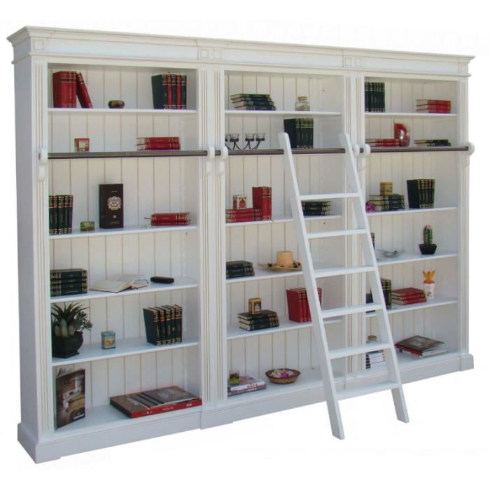 Biblioth que bois massif 15 tag res 304x40x230 achat vente biblioth que - Bibliotheque etagere bois ...