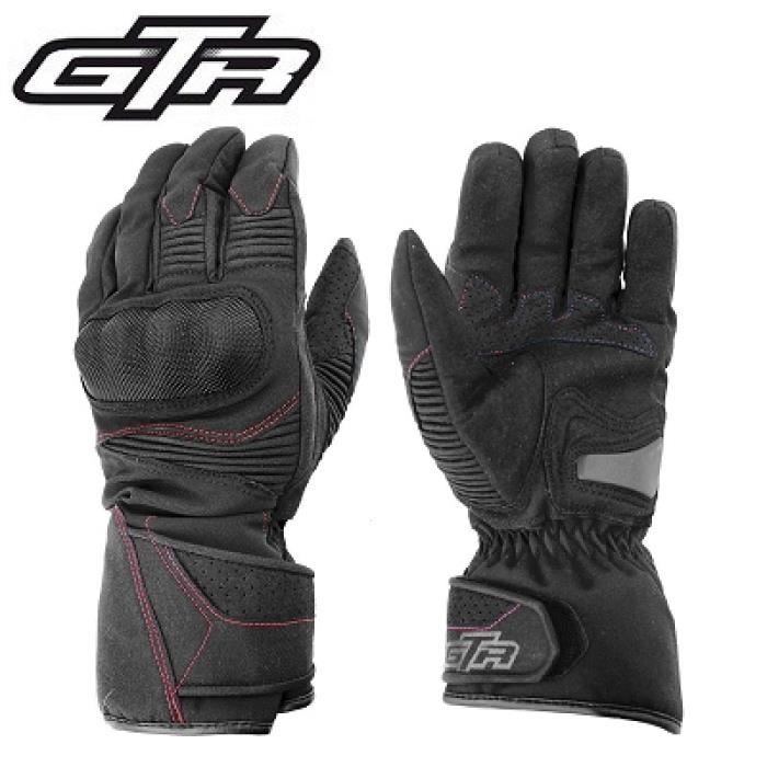 paire de gants gtr blizzard hiver waterproof coques black homologue ce achat vente gants. Black Bedroom Furniture Sets. Home Design Ideas