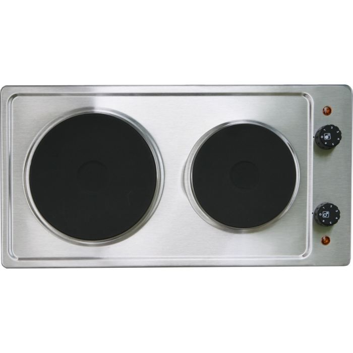 Table de cuisson 2 feux 2500 watts inox achat vente - Table induction 2 feux ...