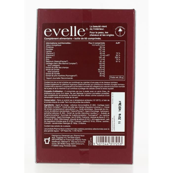 60 EVELLE NORD PHARMA EVELLE PHARMA COMPRIMES UpzVqMS