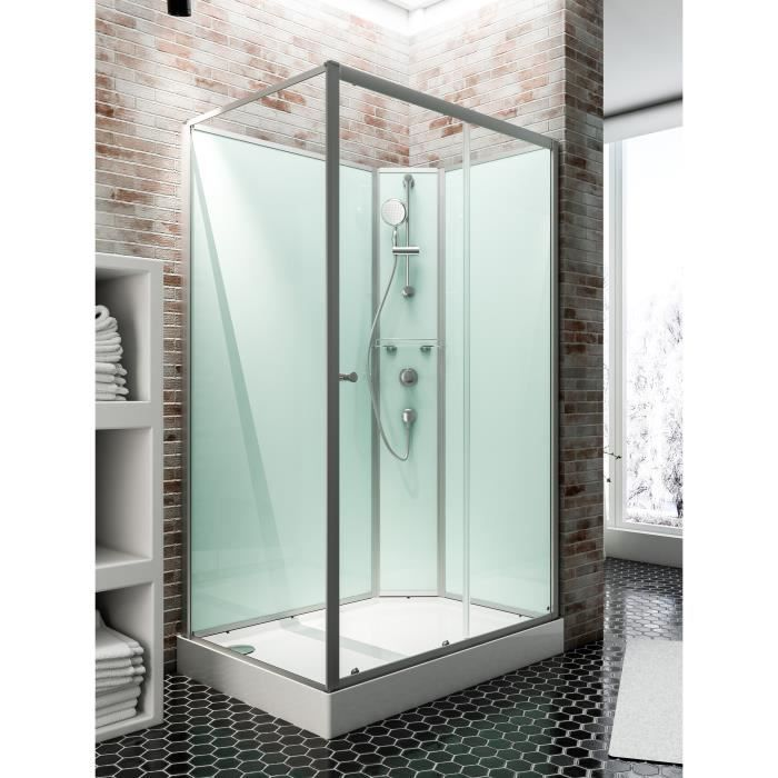 cabine de douche int grale 120x90 cm cabine de douche compl te rectangulaire ibiza porte. Black Bedroom Furniture Sets. Home Design Ideas
