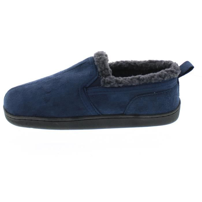 Norman Memory Foam Slippers Warm Sherpa Fleece Lined House Shoes Casual Slip On Loafers OEOLK Taille-43 L4ZMkqyCGe