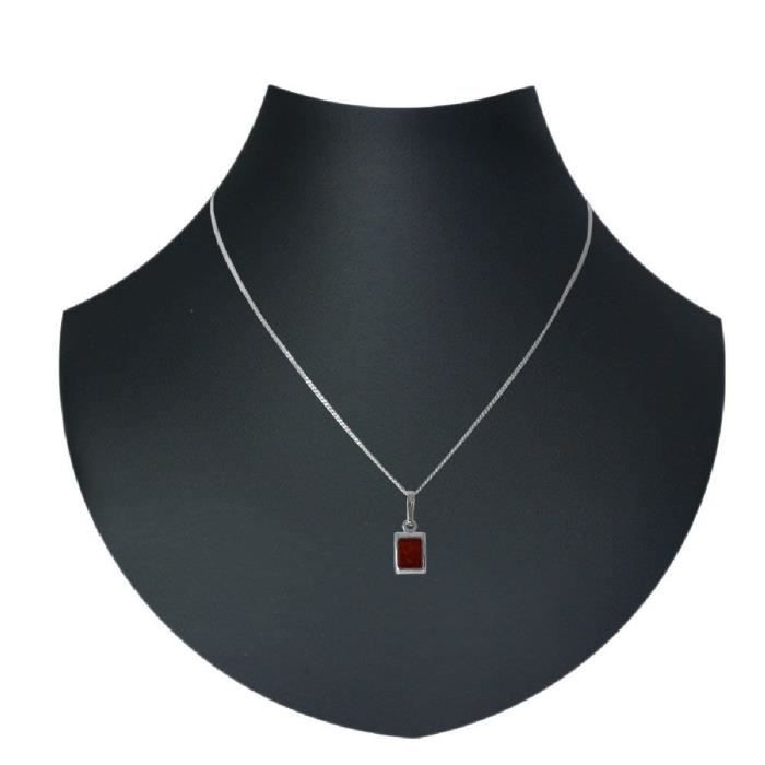 In Collections - 241a200020980 - Collier Avec Pendentif Femme - Argent 925-1000 - Ambre KXO9X