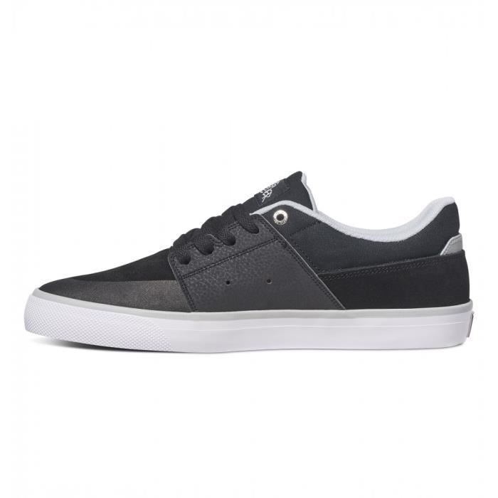 Chaussures DC SHOES WES KREMER Black grey white (xksw)