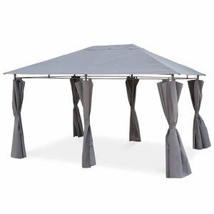 PERGOLA Tonnelle 3 x 4 m - Divio - Toile grise - Pergola a
