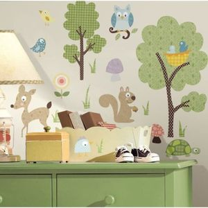 stickers animaux de la foret achat vente stickers animaux de la foret pas cher cdiscount. Black Bedroom Furniture Sets. Home Design Ideas