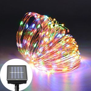 100 led energie solaire string lights multicolore lumières led jardin variété neuf