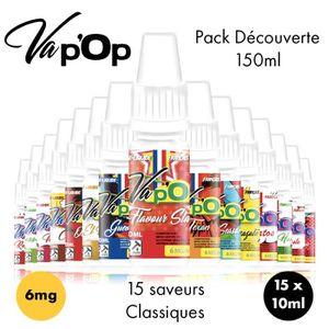 LIQUIDE ✕15 E-liquides Full Découverte-6mg/mL-10mL-Vap'Op